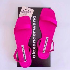 ⭕️ ALEXANDER WANG Ryder Sandals Satin Hot Pink 9